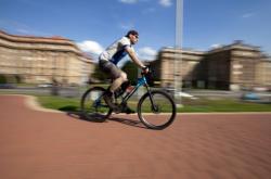 Cyklostezka v Ostravě-Porubě
