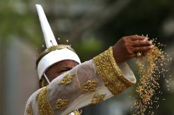 Thajské královské slavnosti orby v Bangkoku