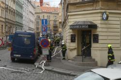 Únik plynu v pražských Vršovicích