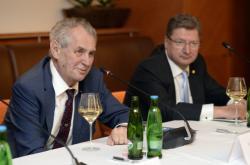 Miloš Zeman a prezident Hospodářské komory Maďarska László Parragh