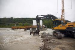 Povodeň u německého Murnau