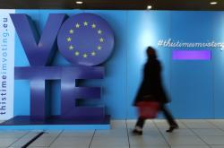 Na eurovolby láká také reklama na bruselském nádraží