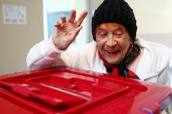 Spokojená volička v Rize