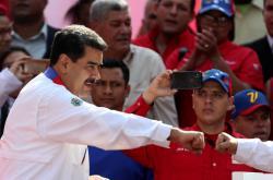 Venezuelský prezident Nicolas Maduro na provládním shromáždění