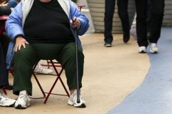 Obézní žena v New Yorku