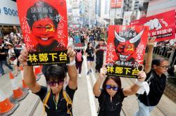 Nedělní protesty v Hongkongu