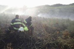 Zásah hasičů ve vojenském prostoru Libavá