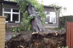 Následky nědělní bouře v Olomouckém kraji