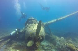 Vrak letadla na dně u Palau