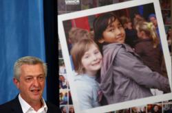 Vysoký komisař OSN pro uprchlíky Filippo Grandi prezentuje zprávu za rok 2018
