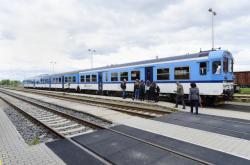 Vlak na nádraží v Uničově