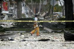 Následky exploze v obchodním centru ve městě Plantation na Floridě