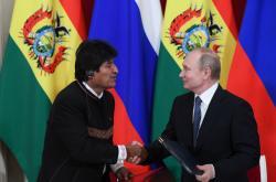 Evo Morales a Vladimir Putin