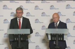 Ministr průmyslu a obchodu Havlíček a předseda představenstva ČEZ Beneš (zleva)