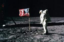 Aldrin  na Měsíci