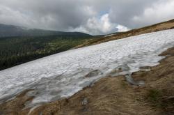 Sníh na Mapě republiky v červnu 2019