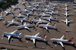 Uzemněné letouny Boeing 737 MAX