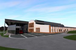 Vizualizace nového technického muzea Tatry v Kopřivnici