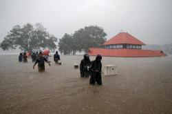 Záplavy ve městě Kóčin