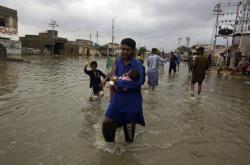 Záplavy v pákistánském Karáčí