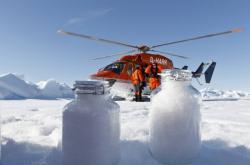 Vzorky arktického sněhu použité při výzkumu