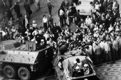 Demonstrace 21. srpna 1969, zákrok příslušníků Veřejné bezpečnosti na Václavském náměstí