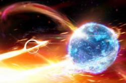 Vizualizace srážky černé díry a neutronové hvězdy