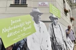 Otevření uličky Kurta Gödela v Brně
