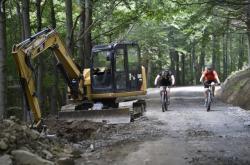 Oprava cyklotrasy na Velkou Javořinu