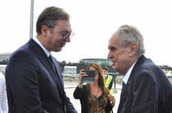 Aleksandar Vučić a Miloš Zeman