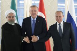 Rouhání, Erdogan a Putin na setkání v Ankaře