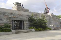 Podstavec bývalého Stalinova pomníku na Letné