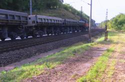 Sanace skály nad tratí u Pardubic
