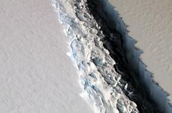 Trhlina v Larsenově ledovci