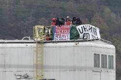 Protestující na Mostecku