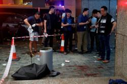 Místo útoku v Hongkongu