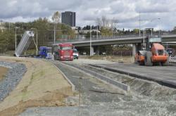 Stavba městského okruhu v Brně