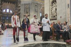 Bohoslužba v bazilice sv. Petra ve Vatikánu