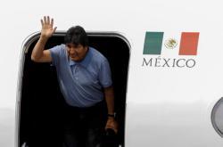 Evo Morales přiletěl do Mexika