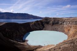 Islandská sopka Askja
