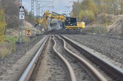 Práce na železniční trati