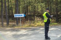 Policie po havárii ve firmě Purum
