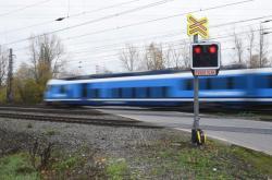 Železniční trať v Přerově-Dluhonicích