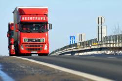 Kamiony u hraničního přechodu Lanžhot-Brodské
