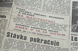 Pozvánka na shromáždění k podpoře KSČ