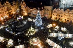 Česká města v době adventu:  Masarykovo náměstí v Ostravě