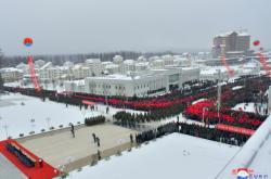 Severní Korea oslavila dokončení výstavby města Samčijon