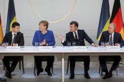 Tisková konference po jednání normandské čtyřky