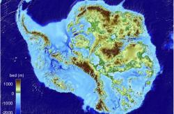 Nejnovější mapa Antarktidy