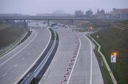 Konec úseku D1 u Přerova